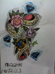 IMG10647 (magno b) Tags: flowers roses love tattoo diamonds colours live first draw lust aquarela