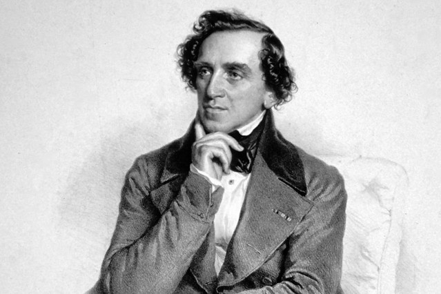 Giacomo Meyerbeer in a lithograph by Josef Kriehuber, 1847