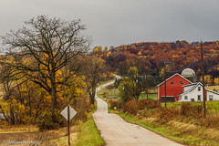 Country Road (wgh3) Tags: sky usa storm wisconsin fallcolor unitedstates locations baraboohills saukcity sceniclandscape