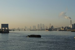 Thames barrier (will668) Tags: uk greatbritain chimney england london tower water ferry thames buildings river boats boat industrial factory unitedkingdom crane smoke tide towers cranes bouy riverthames thamesbarrier woolwichferry woolwicharsenal tateandlyle
