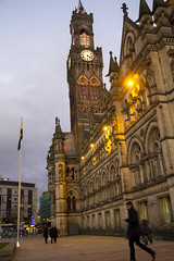 Bradford City Hall (Creative Commons) (tj.blackwell) Tags: city urban town bradford district yorkshire centre north central victorian free images cc creativecommons metropolitan westyorkshire pennines centenarysquare westriding bync cbmdc