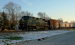 Extra Blue (Wide Cab) Tags: railroad cn train freight canadiannational oshkoshwi bcol x447 a447 neenahsub britishcolumbiarailways