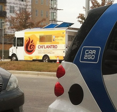 Two big parts of my life this year @chilantrobbq #Car2go