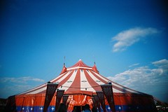 Big Top (bigalid) Tags: film 35mm july 2016 skegness butlins holidaycamp vuws superheadzwideandslim agfaphotovistaplus200 c41 circus tent bigtop