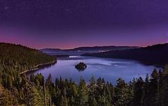 Emerald Bay, Lake Tahoe, California (swissukue) Tags: emeraldbay laketahoe moonlit stars night nightlights sony a7 ilce7 california usa lake
