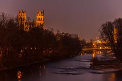 "Chuch ""St. Maximilian"" @night, Munich (ME Photography (Moritz Escher)) Tags: longexposure canon canoneos50d munich münchen sunset night dark isar river bavaria bayern sky"
