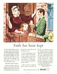British advertisements: (painting in light) Tags: ad advert advertisement sell selling 1951 british england illustration drawing festival britain london festivalofbritain southbank south bank river thames heinz 57 food can canned