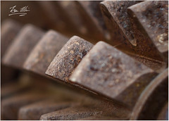 dental decay (roverguybm) Tags: machine canon5d rust metal drill teeth red brown macro depthoffield helios