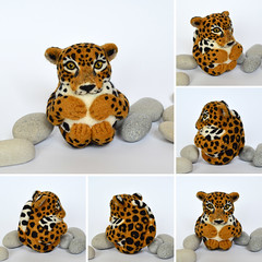 Jaguar (woolroommate) Tags: wool needlefelted needlefelting felt ball ornament decor softsculpture mobile baby etsy roommate lindabrike natureinspired natural toy arttoy collectable collectorsitem jaguar cat animal rainforest