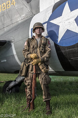 Re-enactor - The Victory Show 2016 (harrison-green) Tags: douglas c47 dc3 dakota victory show 2016 aircraft warbird cockpit plane transport band brothers canon eos 700d sigma 18250mm electronics bike vehicle reenactor ww2 world war two 2 soldier radio man signal signals signaler outdoor untied states army air corps force raf royal correspondent camera pilot aircrew ground paratrooper 82nd airborne luftwaffe living history truck jeep tank