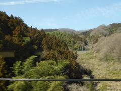 A gap between tunnels (seikinsou) Tags: japan spring omiya kanazawa shinkansen jr railway train travel hakutaka windowseat view mountain snow tunnel forest