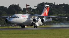 Swiss BEA 146 (deanhammersley) Tags: bea 146 swiss rj anding manchester landing