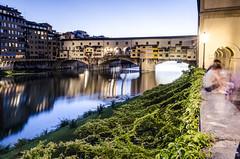Ponte Vecchio - Florence (trunks_pj) Tags: pontevecchio bridge river riverarno florence firenze tuscany italy italian travel longexposure longexposurehdr sunset nikon d5100 peterjamessampson oldbridge travelitaly bridgewithjewellers archbridge hdr