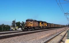 UP Joint Line Coal Train, Englewood, Colorado. (atjoe1972) Tags: unionpacific coal train railroad jointline englewood colorado locomotive ge generalelectric emd ac4400cw sd70ace 6664 8541 atjoe1972 ac44cw