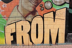 From? (chearn73) Tags: mural from frankfurt streetart germany europe painting urban typography lettering