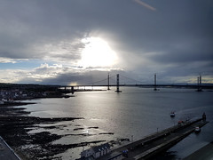 2016-07-01 19.43.56 (@webziggy) Tags: firthofforth forth bridges sunset water river bridge suspension