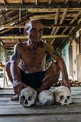 The Iban Headhunter (Emifulio81) Tags: iban tribe malesia nativi head hunter headhunter cacciatori di teste skull longhouse sarawak malaysia