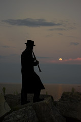 The Real You (tikva18) Tags: he silhouette lake clarinet musician chasid jew jewish breslov breslev yiddishkeit