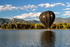 Dunking The Basket (Robin-Wilson) Tags: thejourney balloonname prospectlake memorialpark laborday wetfeet water balloon colorado