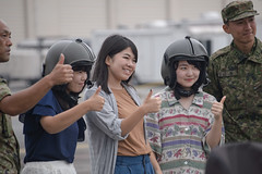 thumbs up (kasa51) Tags: people girl helmet thumbsup helicopter yokotaairbase tokyo japan