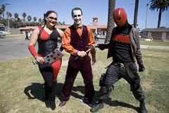 Harley Quinn, Joker and Red Hood (bretthampton1963) Tags: cosplay centralcoastcomiccon centralcoatcomiccon2014 dccomics harleyquinn thejoker redhood batman