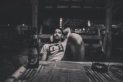 (Luurankorotsi) Tags: gili meno blackandwhite black white man young guy relax relaxing bintang beer