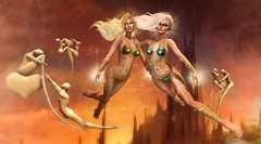 Golden Halo (Duchess Flux) Tags: thesecretaffair weloveroleplay magma aisling zibska deetalez catwa mello colescorner exile drd deathrowdesigns fantasy secondlife sl