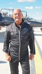 Speedy - Number One Captain (stephenweir) Tags: speedy torontopearsonairport tarmac mississauga ontario canada numberone jacquesbothelin jetteam manager breitlingjetteam swiss