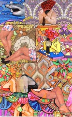 THE TIE ADJUSTER'S PENCHANT FOR LEGS (Narolc) Tags: art a5 colour collage drawing detailed legs ties narolc juliancloran sharingart sparklingheart surreal visualart visual energetic autodidactic flickr
