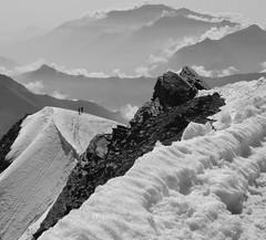 ridge (Max D. Machy) Tags: weissmies valais uppervalais switzerland ridge snow scary clouds 4000er monterosa mountaineers johannchristianheuser johannaspyri heidi mountaincompetence guides locals