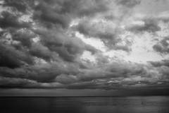 Cloudy (Salva Pags) Tags: cloud clouds nube nubes nuvol nuage nuvols blancoynegro blancinegre blackandwhite blancetnoir mar sea maresme masnou elmasnou