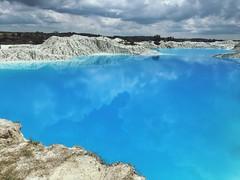 Lake Danau Biru Blue Kaolin Airbara Koba BangkaTengah Explorebangka Bangka Island ASIA INDONESIA Wonderfulindonesia Beautiful  (eriko_ie) Tags: lake danau biru blue kaolin airbara koba bangkatengah explorebangka bangka island asia indonesia wonderfulindonesia beautiful
