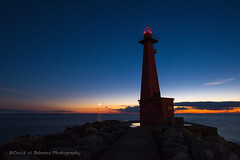 DSC_8449 Copy (David W. Behrens) Tags: moonset muskegon michigan lakemichigan westmichigan peremarquettepark dusk puremichigan magichour nikond810 stars twilight afterglow sunset lighthouse biglake 2016 august themittenstate