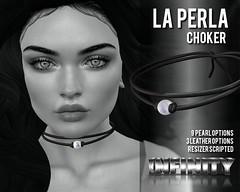 !NFINITY La Perla Choker (infinity.owner) Tags: nfinity jewelry pearl choker cord la perla second life secondlife sl avatar fashion accesoires mesh groupgift