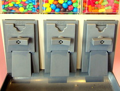 Choices (Stephanie'sBestShots) Tags: closeup election candy choices slots gumballs symbolic candymachines november5