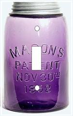 amethyst 1858 Masons fruit jar single switchplate (Charlotte Clarke Geier) Tags: computer print crafts digitalart computercrafts