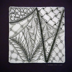 string 23 (goofed up) (shebicycles) Tags: bw abstract pen pencil ink tile doodle tps goofed zentangle string23