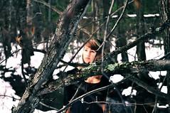 Cynosure (Send me adrift.) Tags: winter snow girl beauty forest wonder ana woods focus branch dof sister fantasy wonderland brilliance