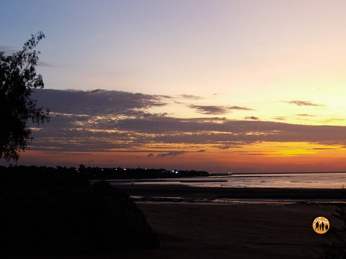 Sunset Looking Over Nightcliff: Dripstone Beach, Darwin,