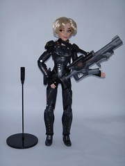 Sergeant Calhoun LE 17'' Doll - First Look - Deboxed - Free Standing Next To Doll Stand - Full Front View (drj1828) Tags: doll personal calhoun limitededition sgt disneystore sergeant 17inch deboxed wreckitralph