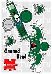 Canned Head Atum (Robson Lelis) Tags: art paper de toy toys head craft canvas canned robson homem cabea dunny lata papercraft atum recortar contempornea toyart lelis diavolino enlatada rlelis