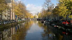 Amsterdam (Abi Skipp) Tags: bridge amsterdam river boat canal