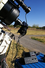 Spectrography setup, showing autoguider (chipdatajeffb) Tags: stv csac autoguider comanchespringsastronomycampus spectrography sbigstv