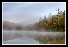 Morning Mist on Heart lake (ChrisMurrayPhotography) Tags: morning autumn mist newyork mountains fall fog adirondacks