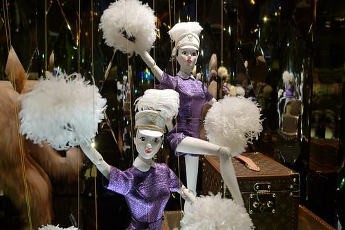 Vitrines de Noël Louis Vuitton aux Galeries Lafayette - Paris, novembre 2012