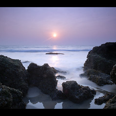 Sunset in Goa (P_a_r_a_m) Tags: sunset sea india seascape beach rock goa exclusive