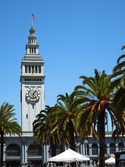 San Francisco Ferry Building (Anomalous_A) Tags: sanfrancisco building clock northerncalifornia architecture landmark palm clocktower palmtree sanfranciscobayarea embarcadero beauxarts nationalregisterofhistoricplaces nrhp apagebrown arthurpagebrown