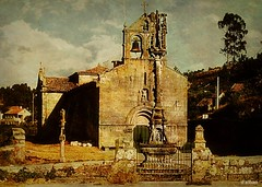 Santo Andrs do Ho (Franco DAlbao) Tags: church 35mm iglesia slide galicia 1978 cruceiro stonecross chinonceii oho dalbao francodalbao