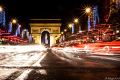 Color Arch (haiwepa) Tags: longexposure night champs elyses arc triomphe nuit trafic