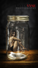 Beautiful Specimen (Kevin Vyse Photography) Tags: woman ontario canada glass girl beautiful beauty female portraits photography model eyes friend gorgeous floating levitation jar glamor 2012 copywrite kvphotography